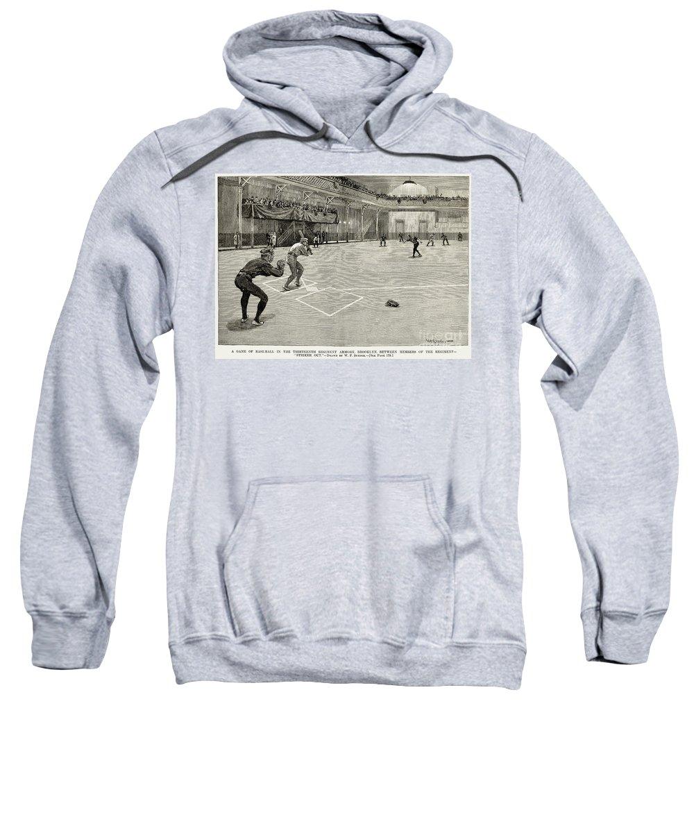 1890 Sweatshirt featuring the photograph Baseball: Brooklyn, 1890 by Granger