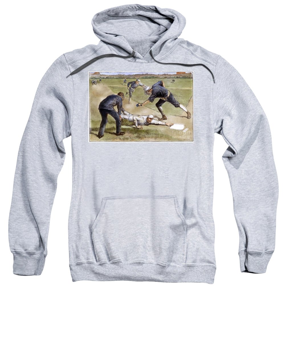 1885 Sweatshirt featuring the photograph Baseball Game, 1885 by Granger
