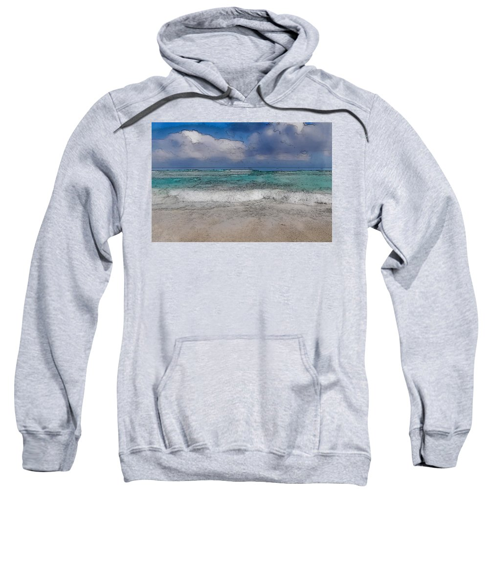 Nature Sweatshirt featuring the photograph Beach Background by Brandon Bourdages
