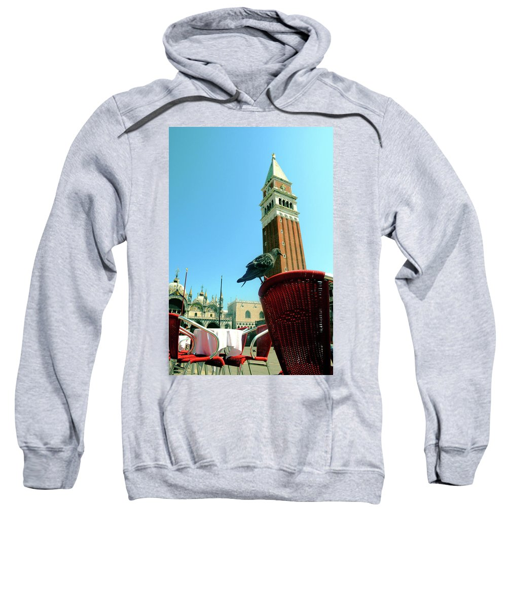 Venice Sweatshirt featuring the photograph Best Seat In The House by La Dolce Vita