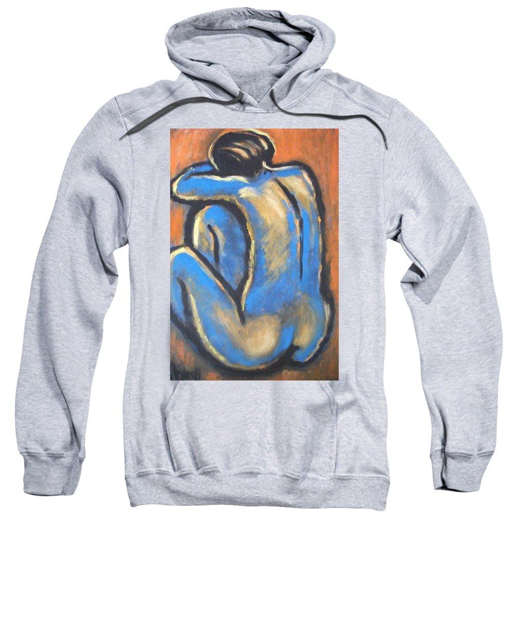 Original Sweatshirt featuring the painting Blue Back by Carmen Tyrrell