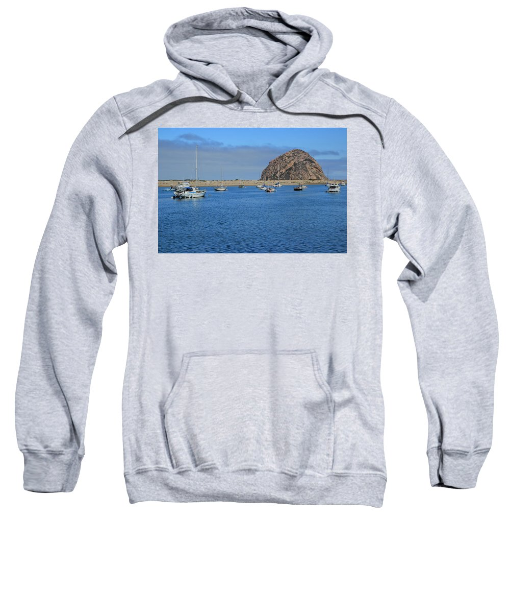 Morro Bay Sweatshirt featuring the photograph Boats And Blue Water by Heidi Smith