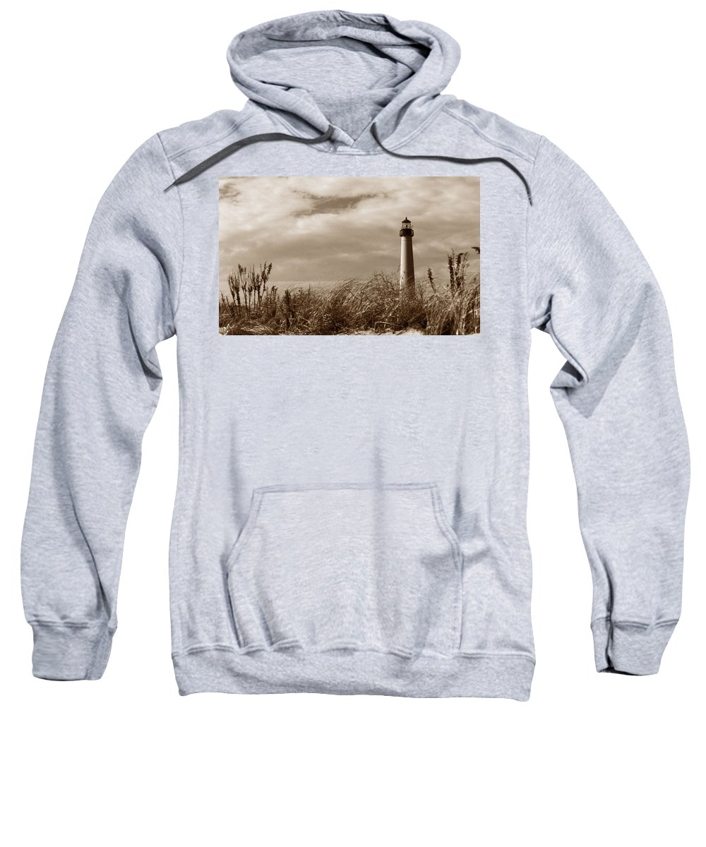 Cape May Sweatshirt featuring the photograph Cape May Lighthouse by Skip Willits