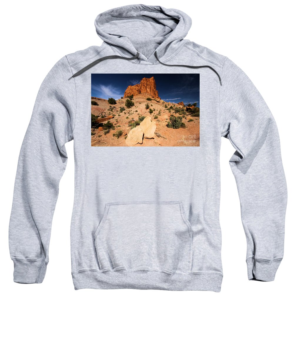 Capitol Reef National Park Sweatshirt featuring the photograph Castle In The Sky by Adam Jewell