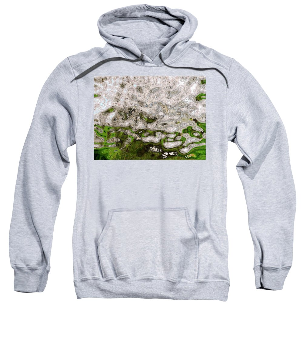 Cherry Sweatshirt featuring the photograph Cherry Tree by Linda Hutchins