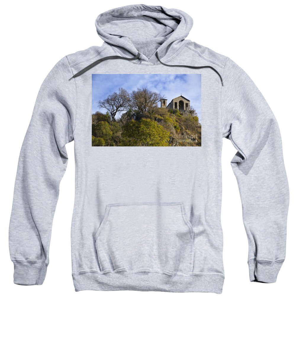 Church Sweatshirt featuring the photograph Church On A Hill by Mats Silvan