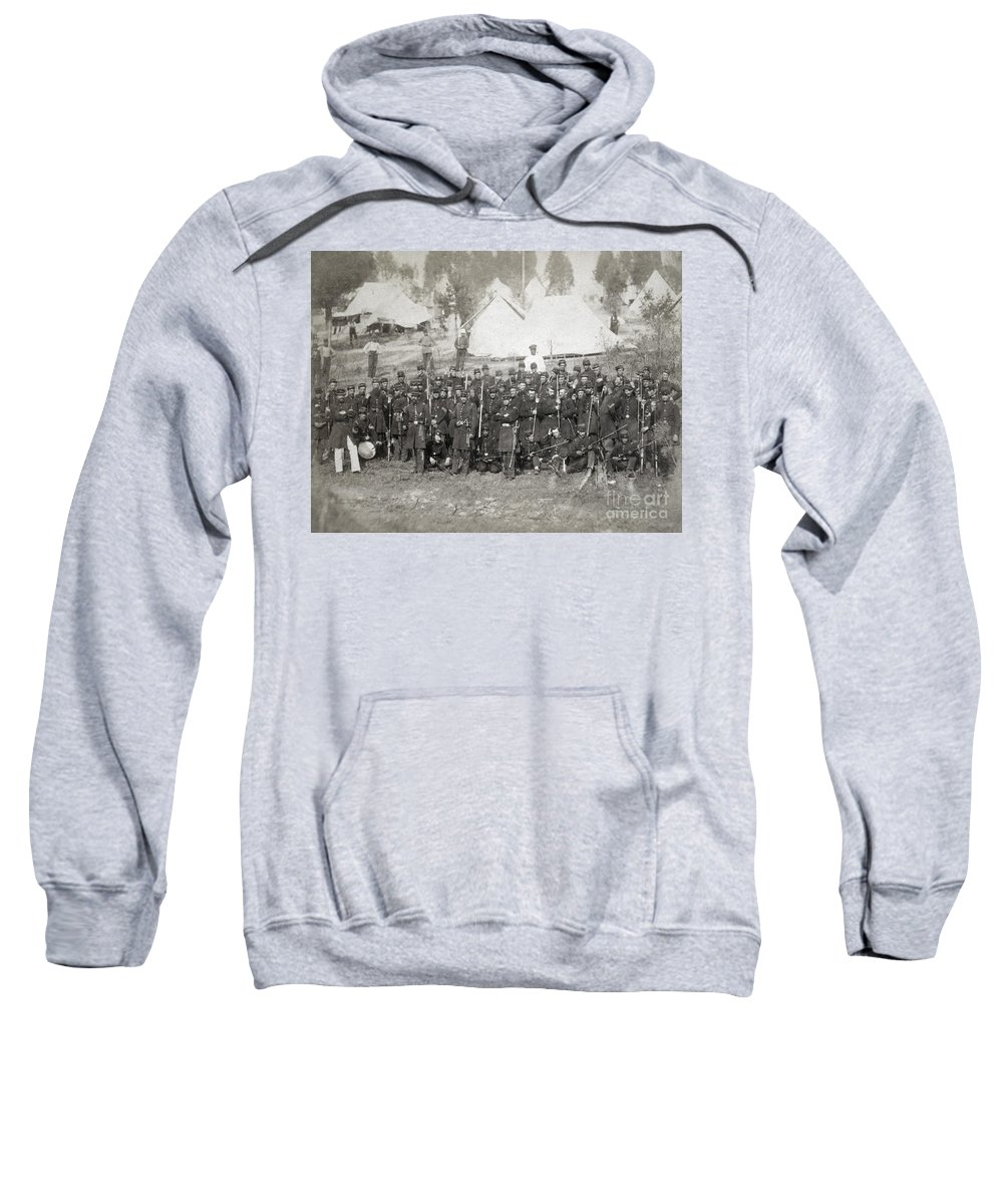 1861 Sweatshirt featuring the photograph Civil War: Union Troops by Granger