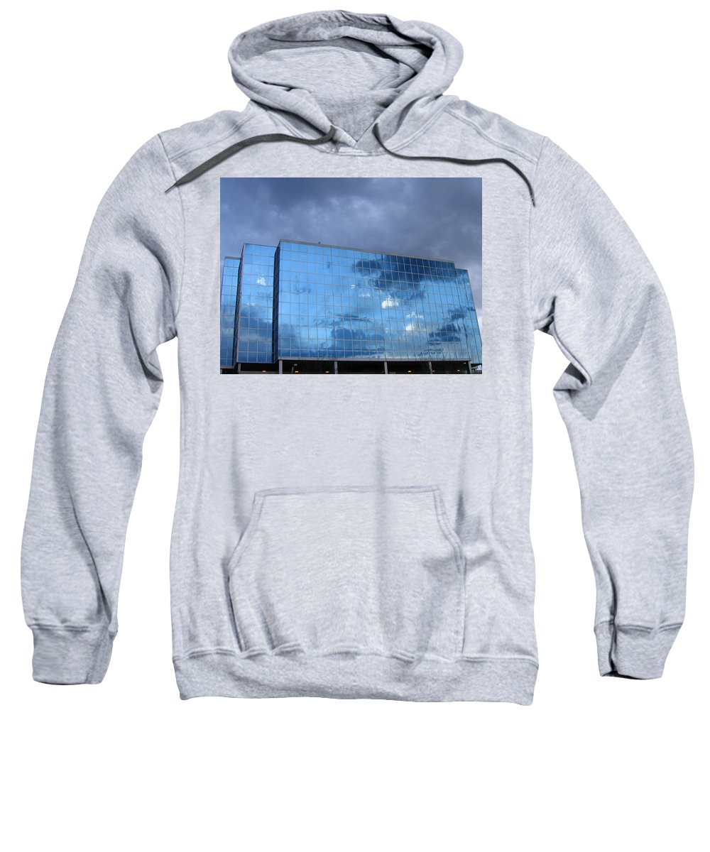 Clouds Sweatshirt featuring the photograph Cloud Reflection by Denise Keegan Frawley