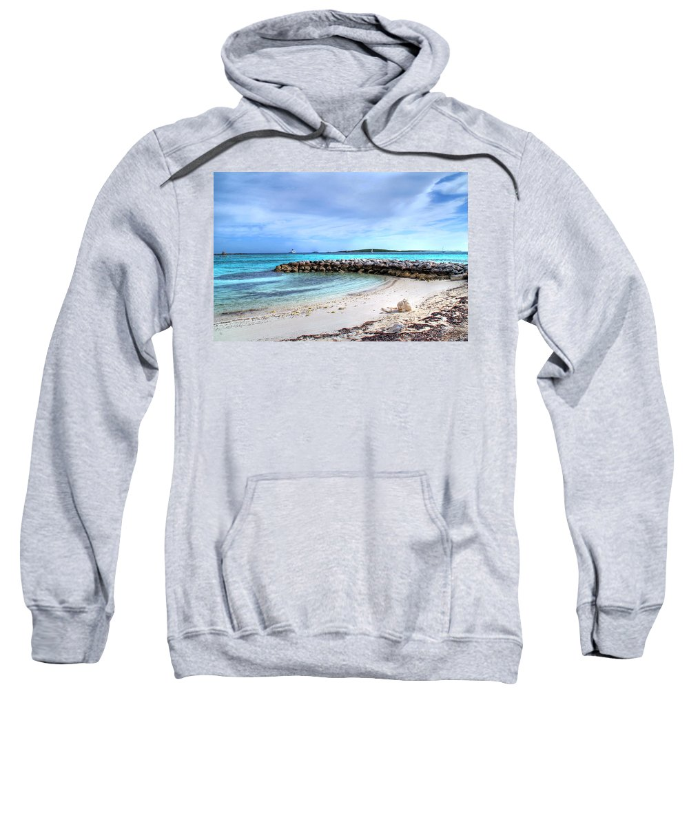 Places Sweatshirt featuring the photograph Coco Cay by Raymond Zajac
