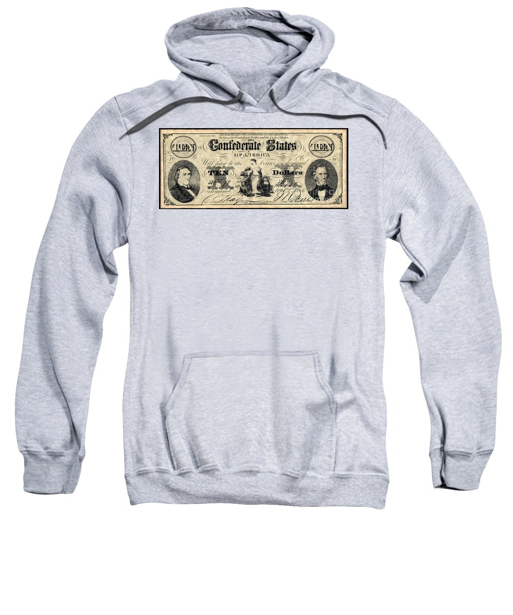 1861 Sweatshirt featuring the photograph Confederate Banknote by Granger