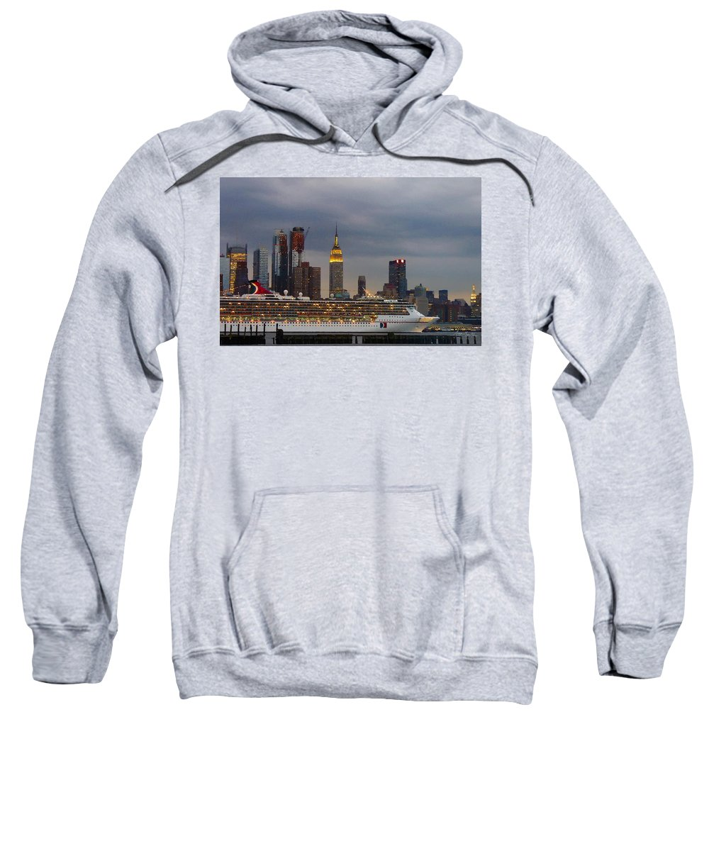 New York City Sweatshirt featuring the photograph Cruisin By The City by Maggie Magee Molino