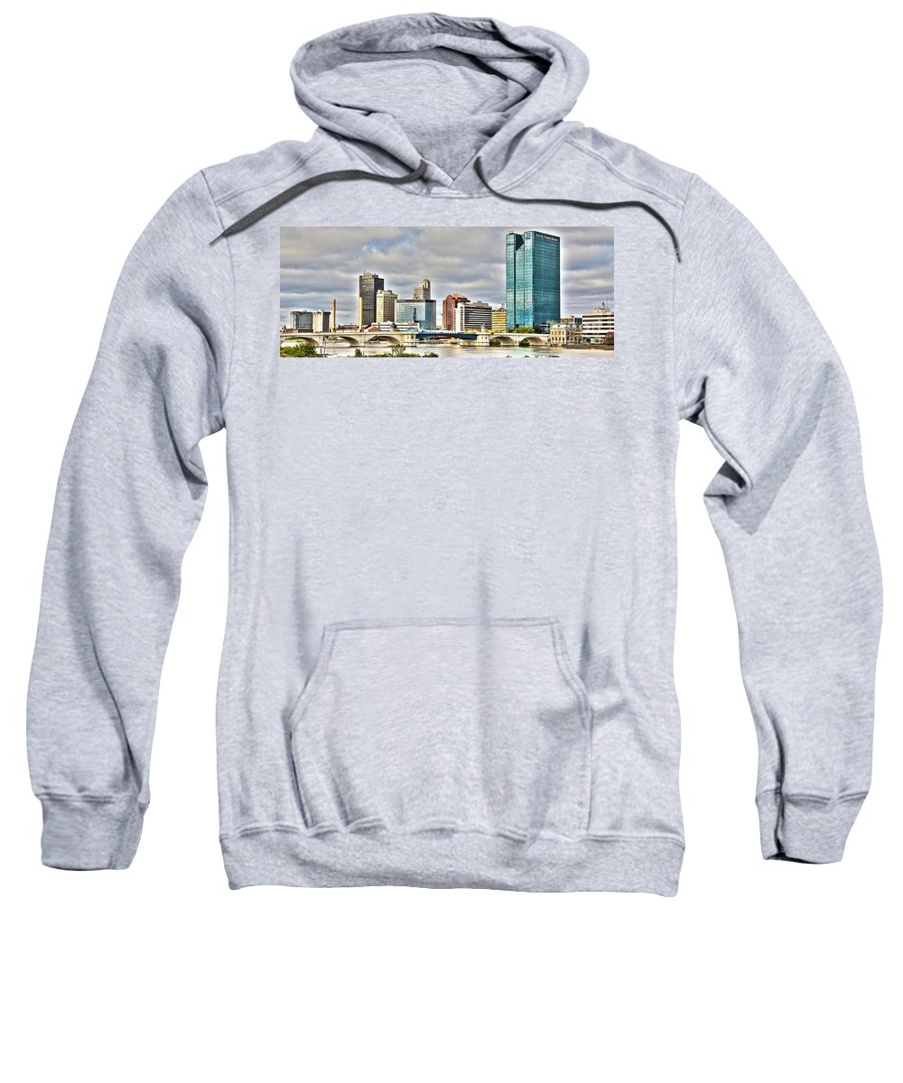 Toledo Ohio Sweatshirt featuring the photograph Downtown Toledo Riverfront by Jack Schultz