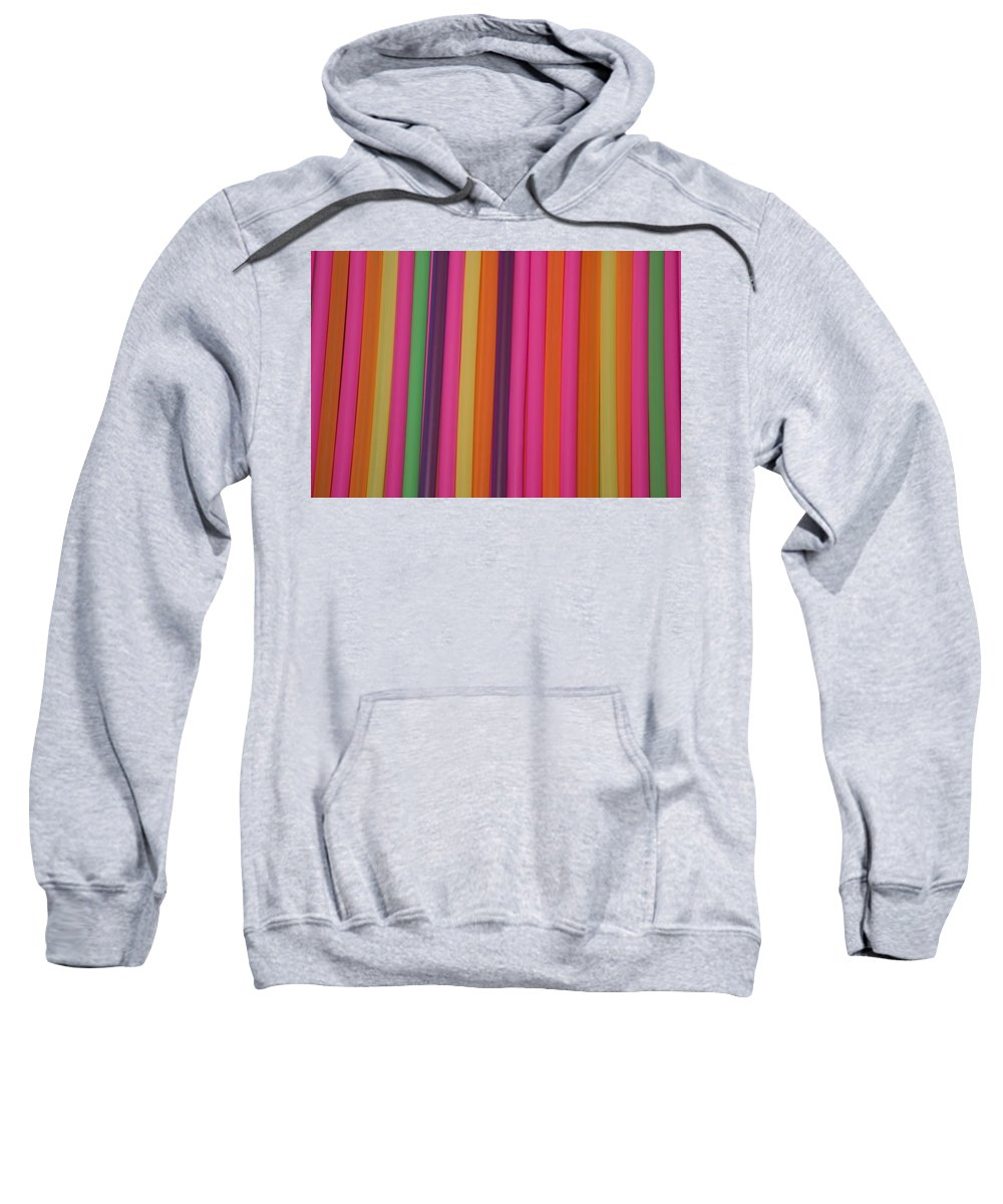 Color Image Sweatshirt featuring the photograph Drinking Straws by David Chapman