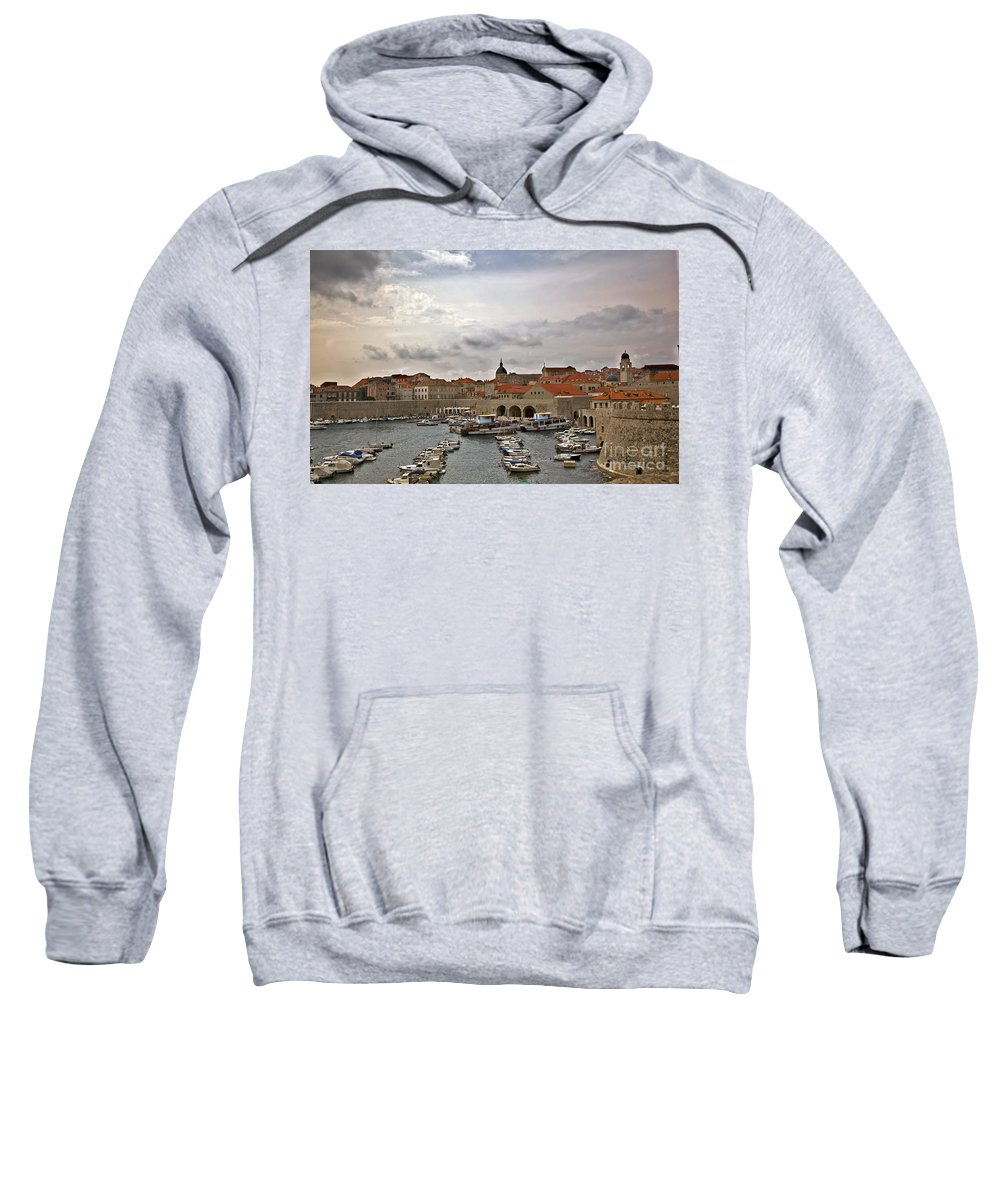 Dubrovnik Sweatshirt featuring the photograph Dubrovnik View 5 by Madeline Ellis