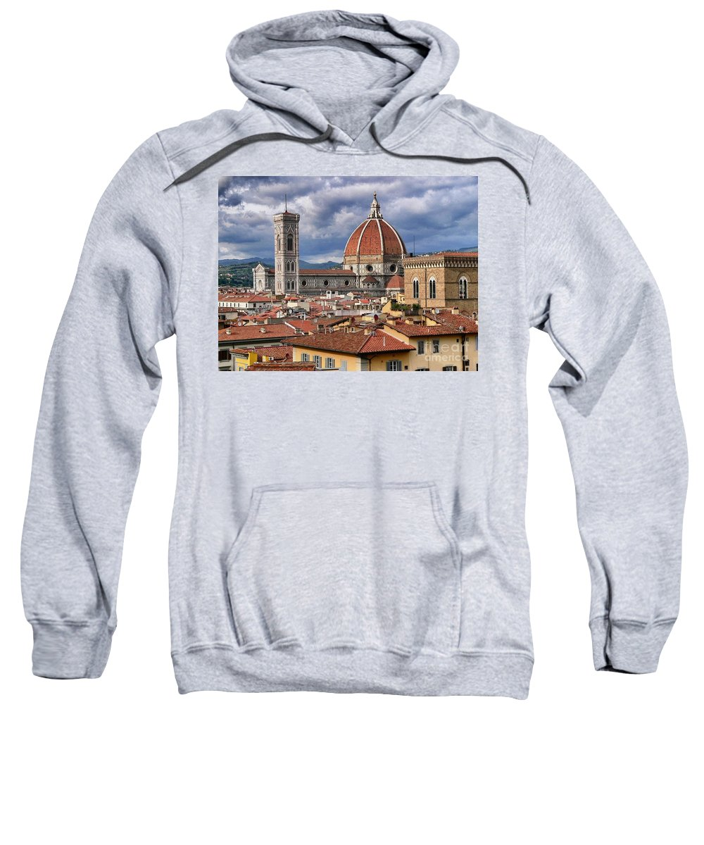 Duomo Sweatshirt featuring the photograph Duomo by Angela Wright