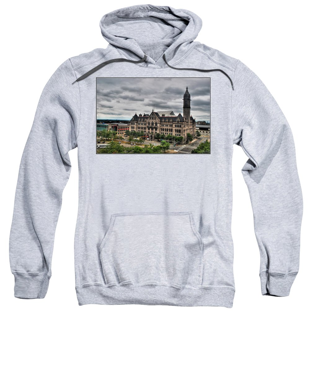 Sweatshirt featuring the photograph Erie Community College City Campus by Michael Frank Jr