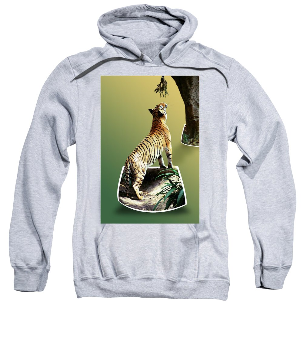 Sweatshirt featuring the photograph Feeding Time by Michael Frank Jr