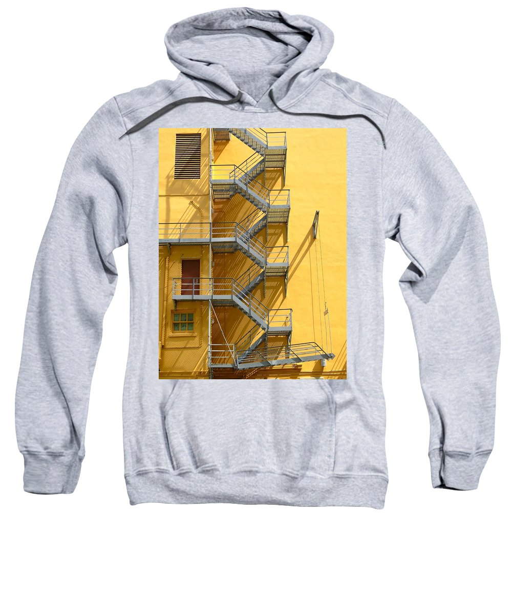 Fire Sweatshirt featuring the photograph Fire Escape by Rudy Umans