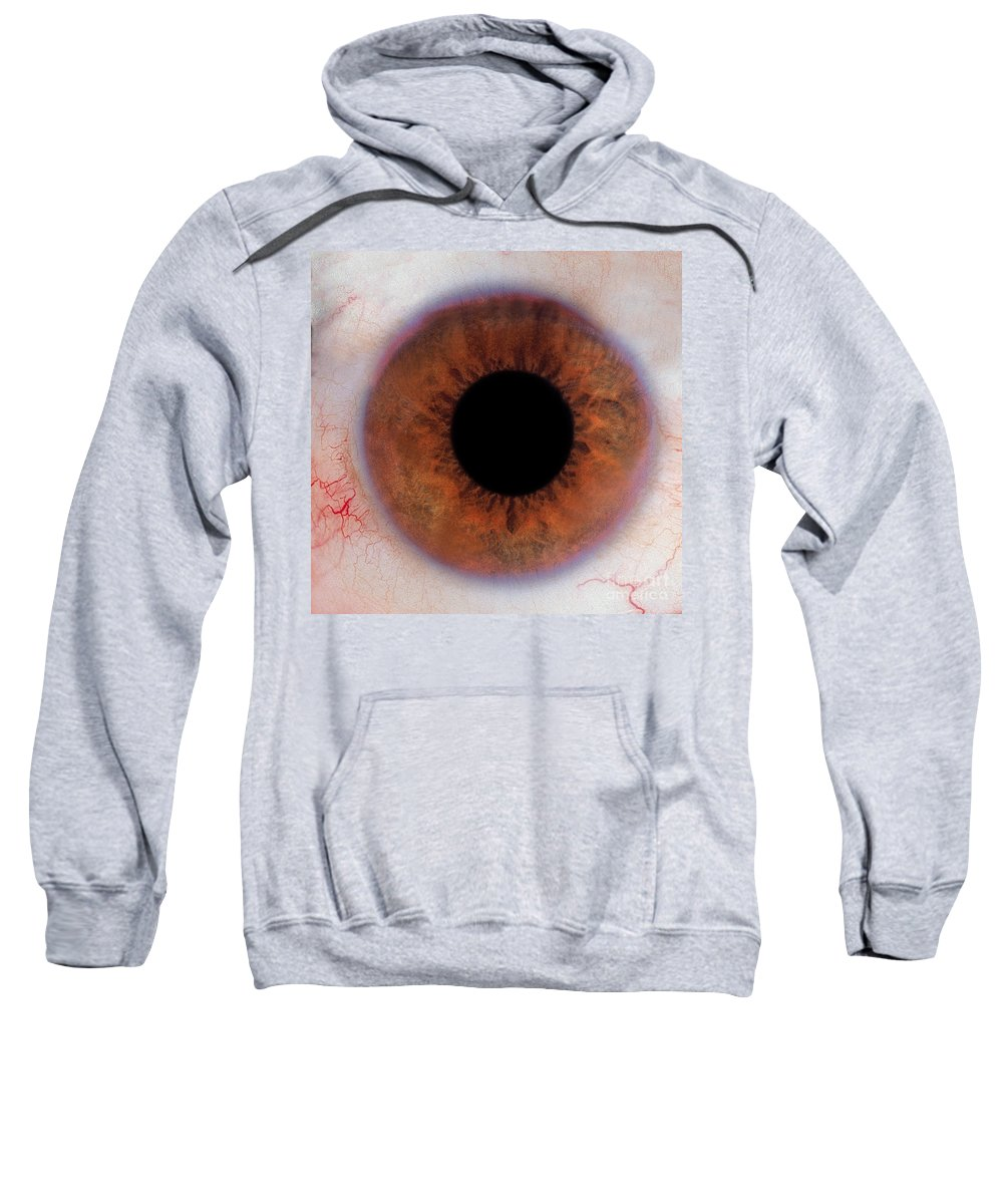 Eye Sweatshirt featuring the photograph Human Eye by Raul Gonzalez Perez