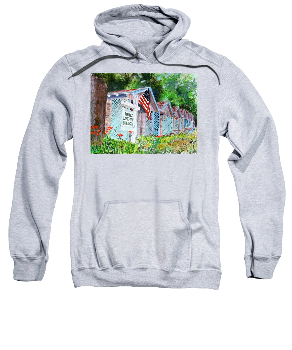 Lake Sweatshirt featuring the painting Lake Life by Beth Saffer