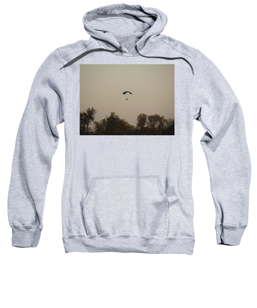 Paraplane Sweatshirt featuring the photograph Learning To Fly by Bonfire Photography