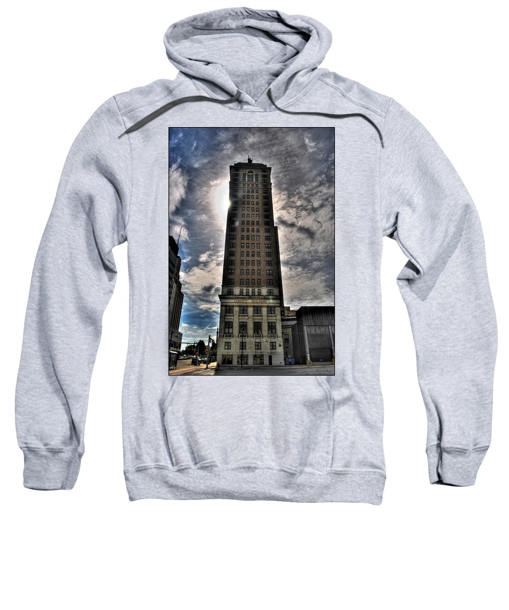 Sweatshirt featuring the photograph Liberty Building by Michael Frank Jr