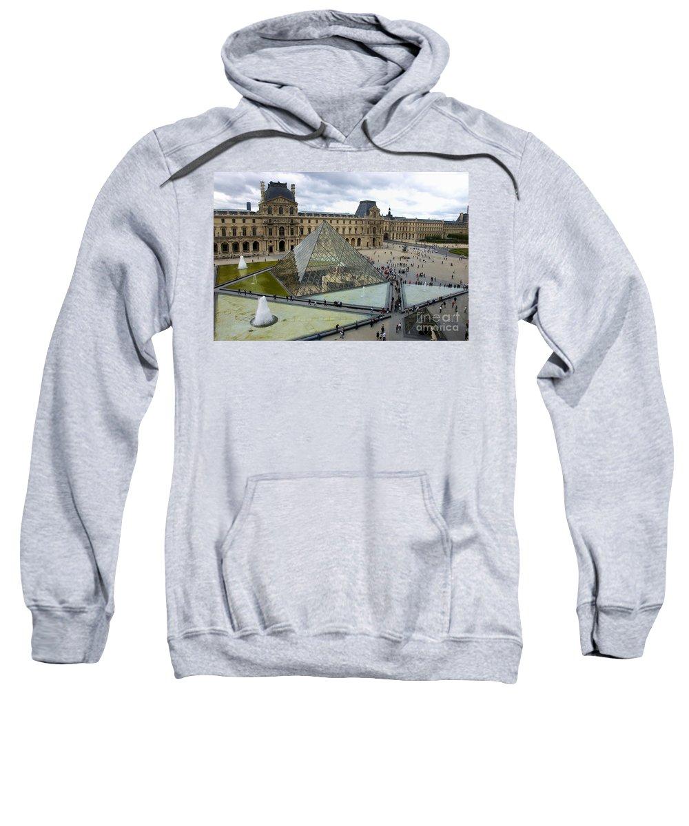 Paris Sweatshirt featuring the photograph Louvre Museum. Paris by Bernard Jaubert