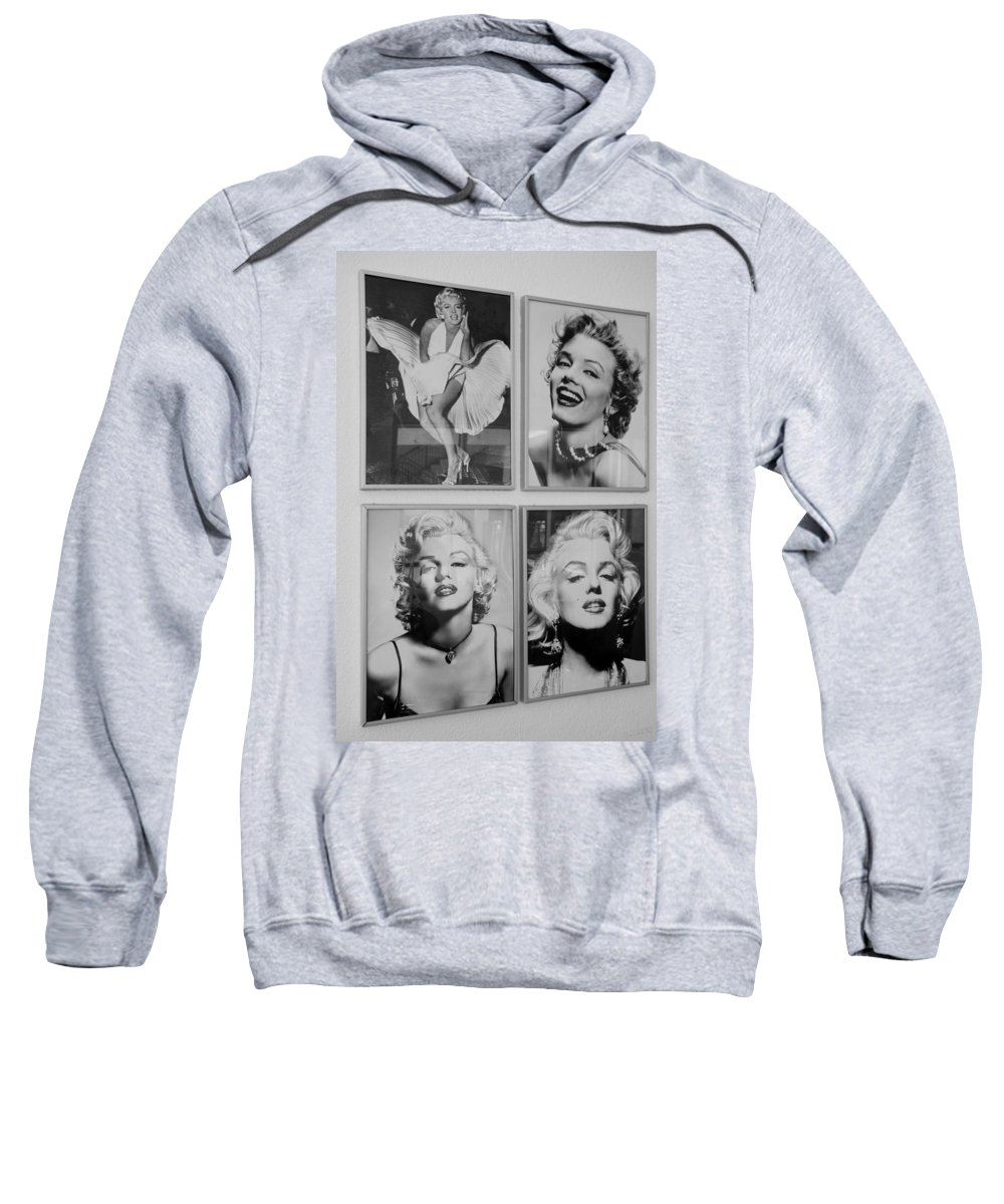 Marilyn Monroe Sweatshirt featuring the photograph M M by Rob Hans