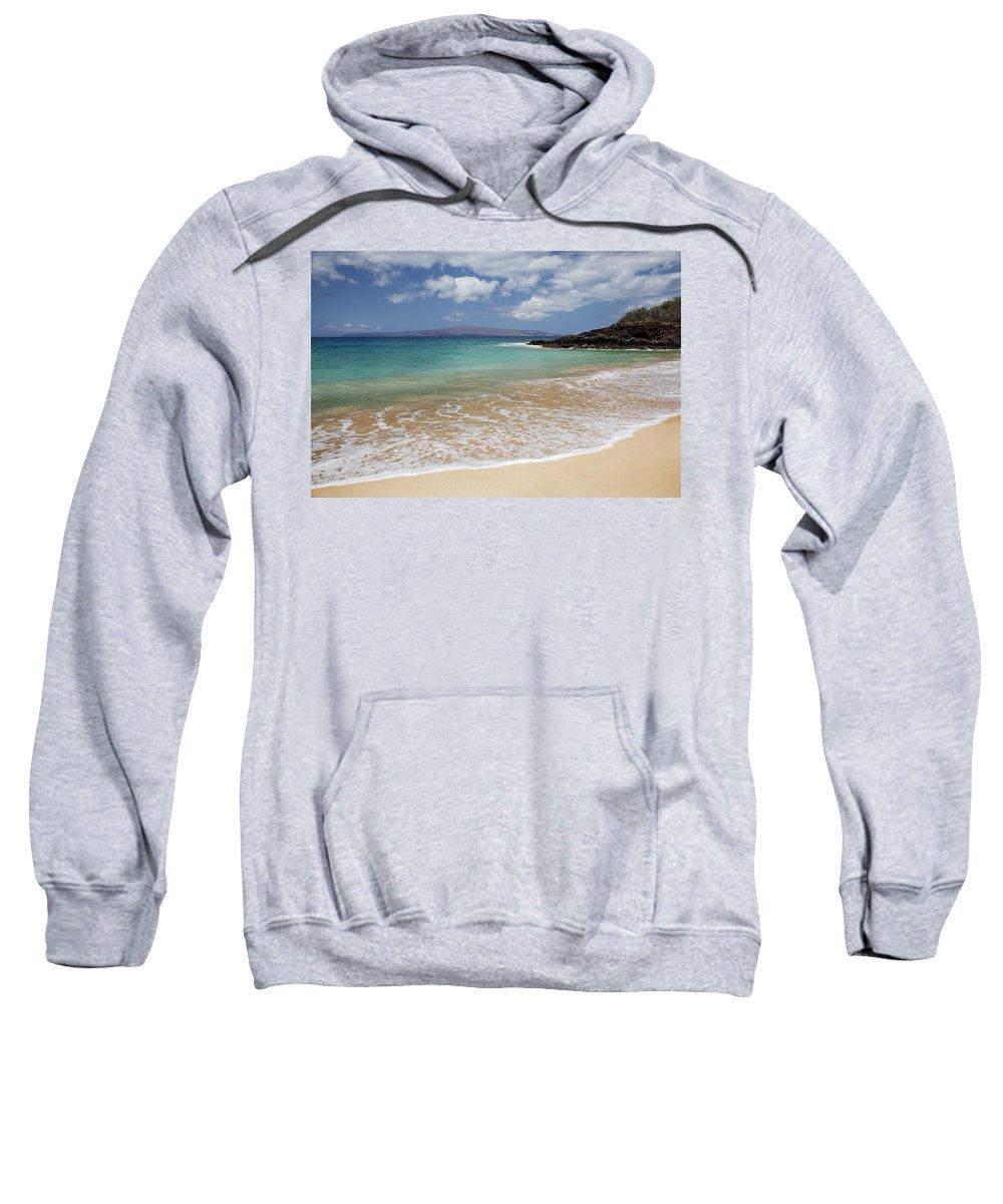 Beach Sweatshirt featuring the photograph Makena Ocean And Sand by Jenna Szerlag