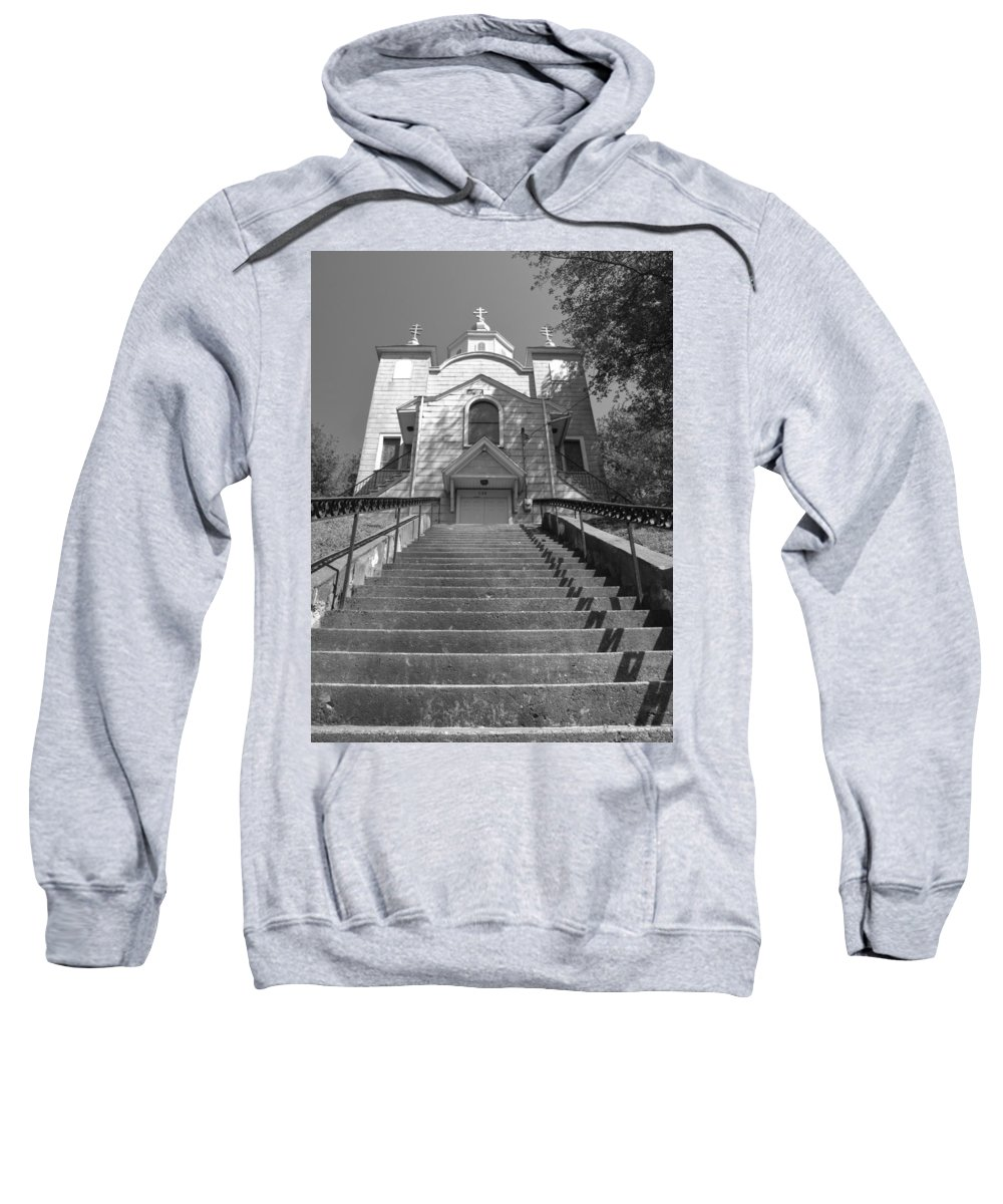 silent Hill Church Sweatshirt featuring the photograph Old Church by Michele Nelson