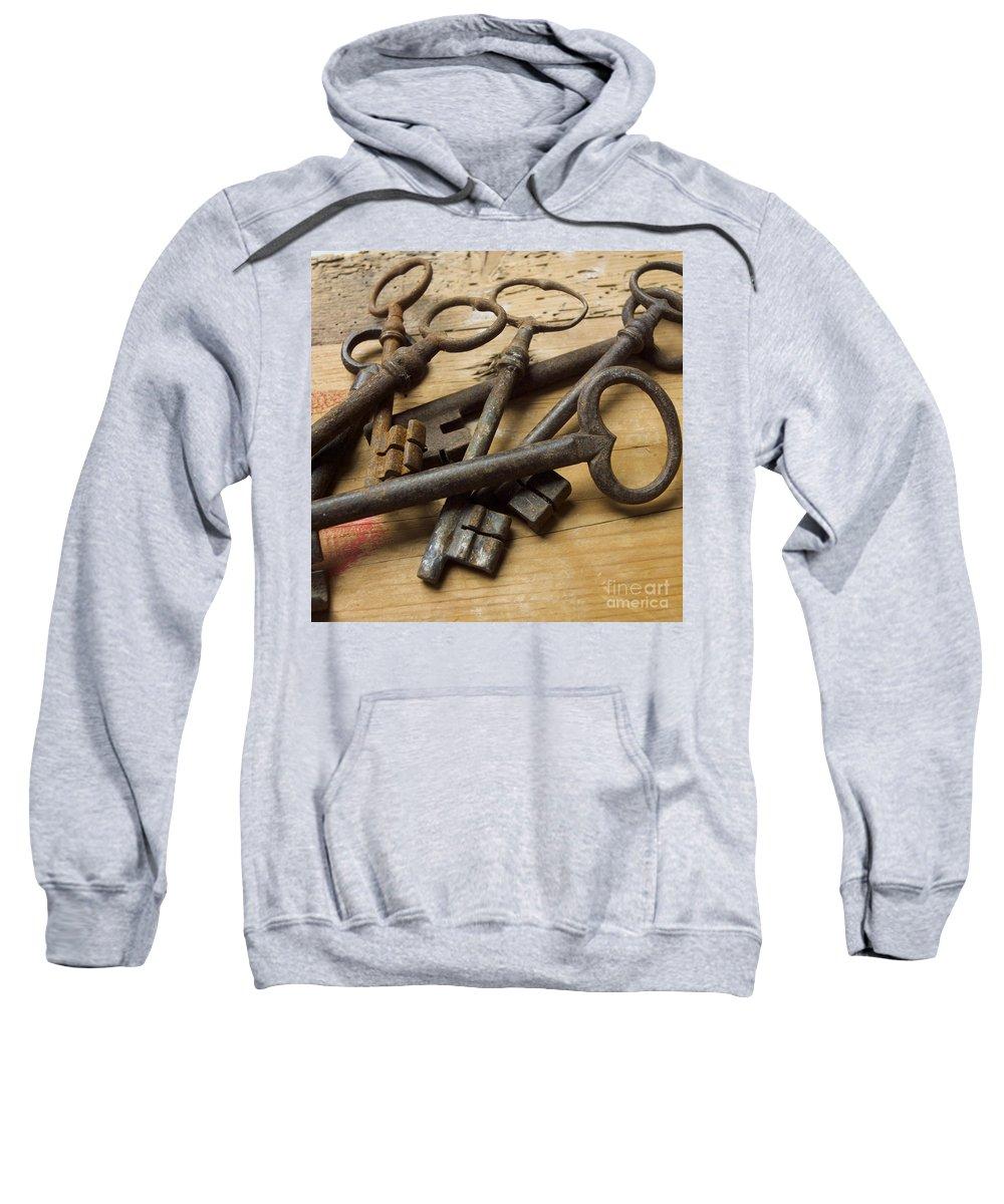 Through Sweatshirt featuring the photograph Old Keys by Bernard Jaubert