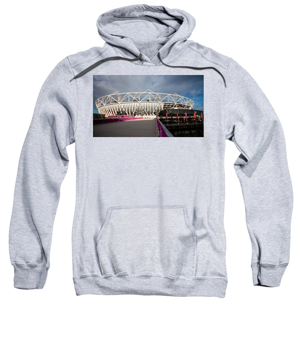 Dawn Oconnor Sweatshirt featuring the photograph Olympic Stadium by Dawn OConnor