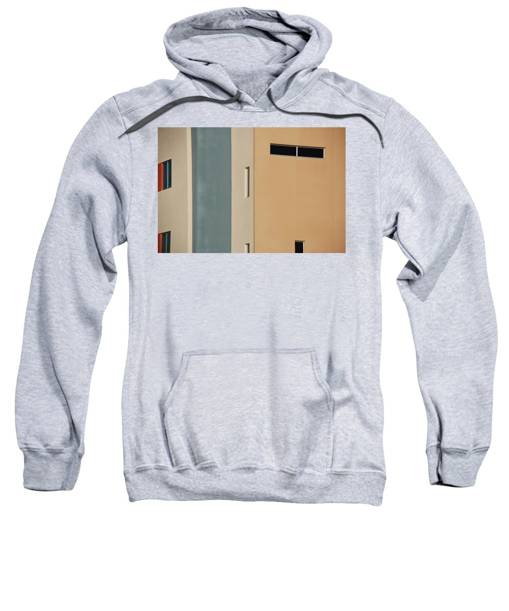Architecture Sweatshirt featuring the photograph Q W School In Colors by Rob Hans