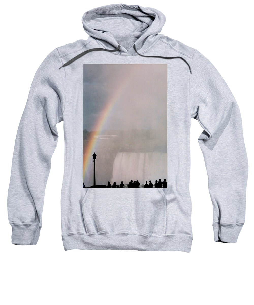 Waterfall Sweatshirt featuring the photograph Rainbow Falls by Pharris Art