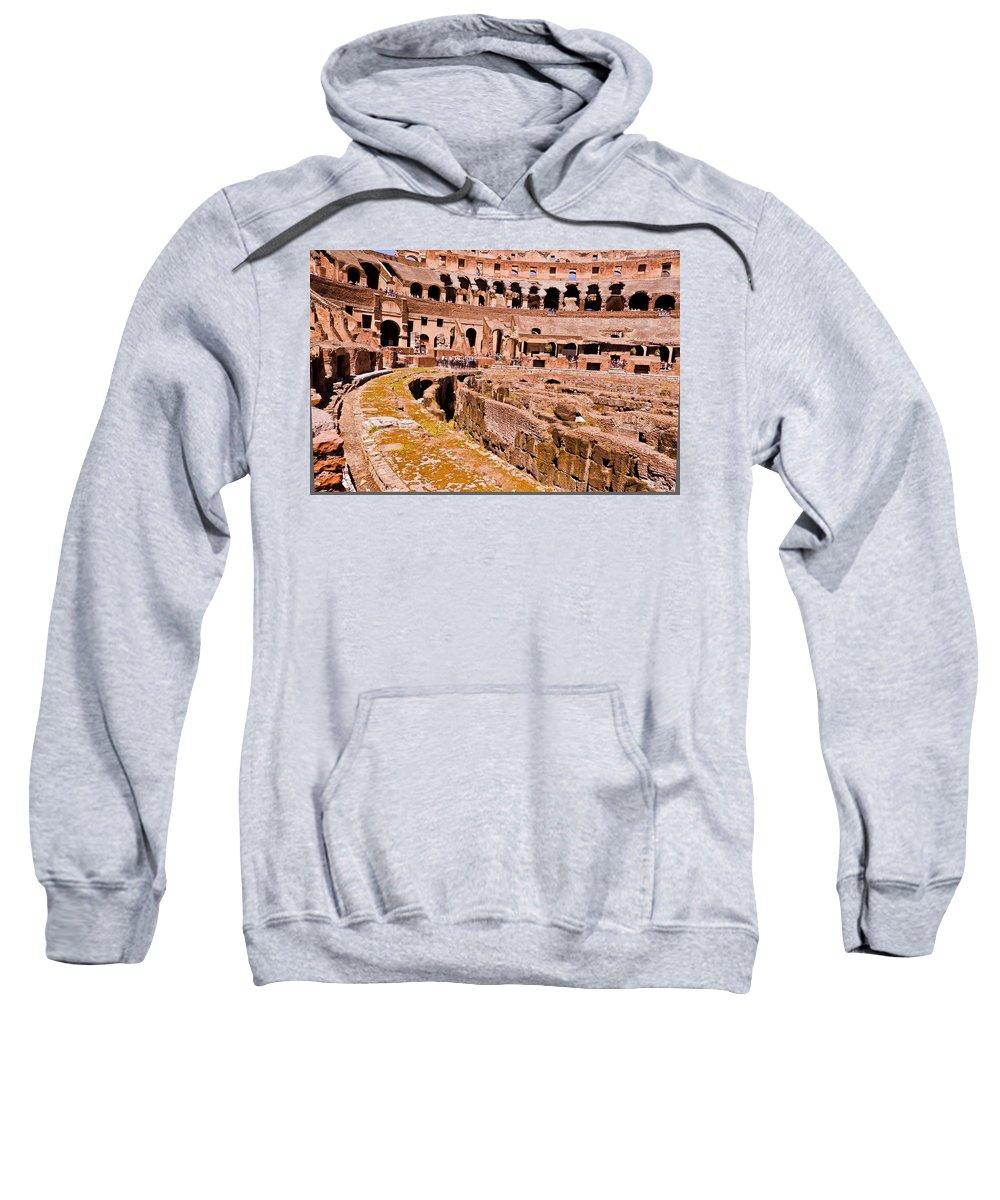 Rome Sweatshirt featuring the photograph Roman Coliseum by Jon Berghoff