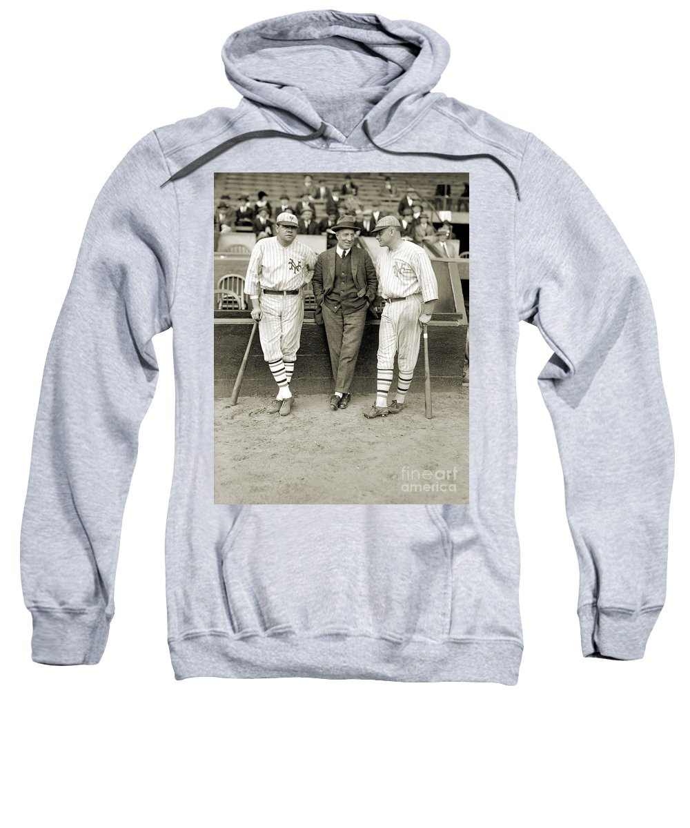 1923 Sweatshirt featuring the photograph Ruth, Dunn And Bentley by Granger