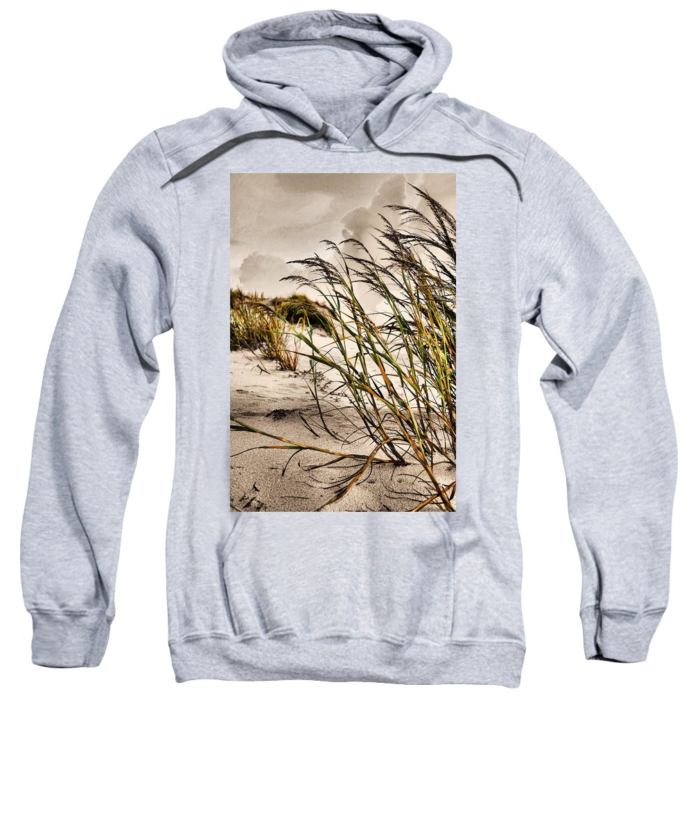 Sea Oats Sweatshirt featuring the photograph Sea Oats by Kristin Elmquist
