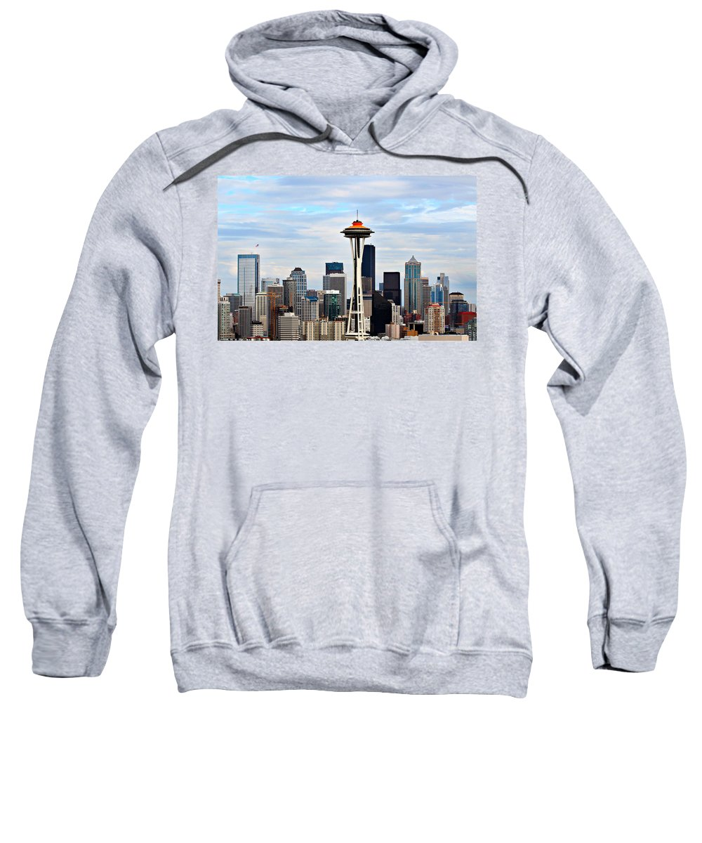 America Sweatshirt featuring the photograph Seattle by Paul Fell