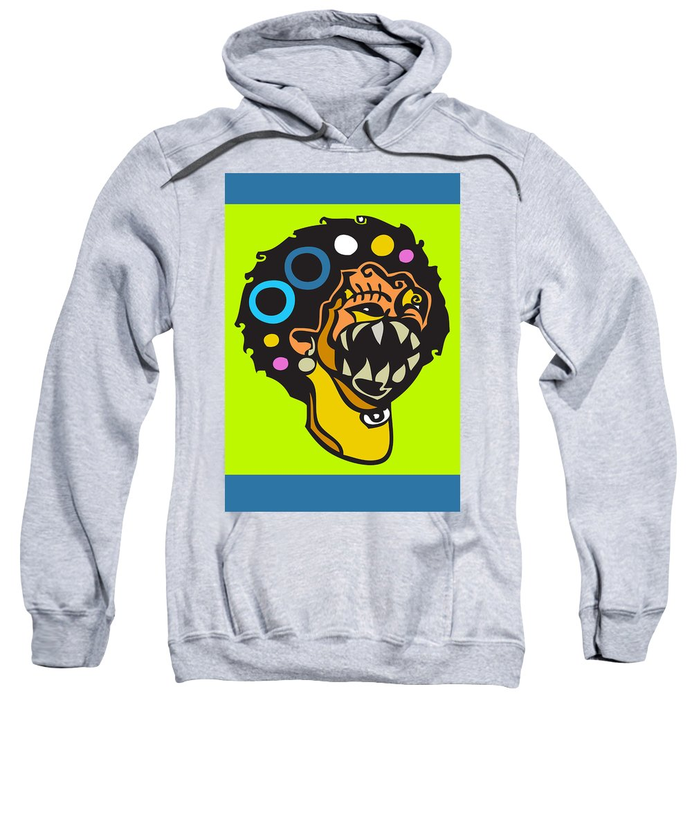 Artistic Sweatshirt featuring the digital art Smile For Luck by Kamoni Khem