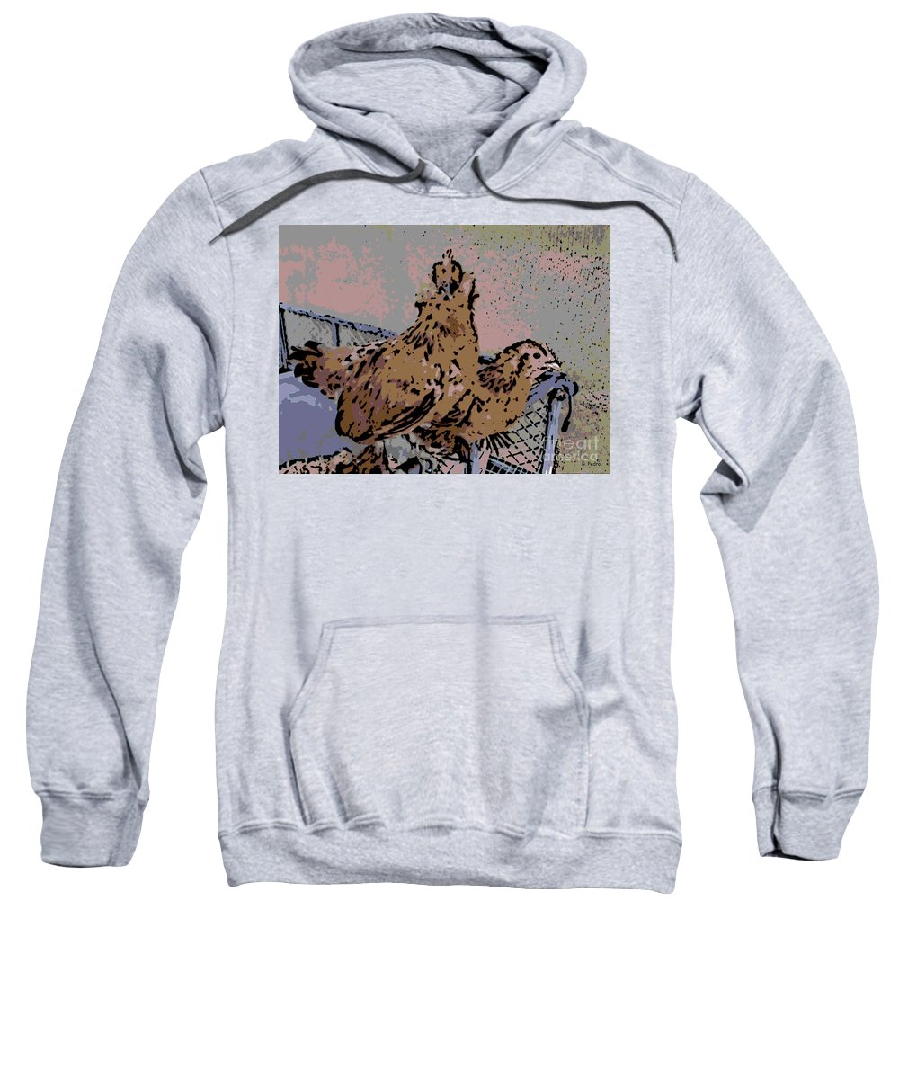 Bantam Sweatshirt featuring the photograph Startled by George Pedro