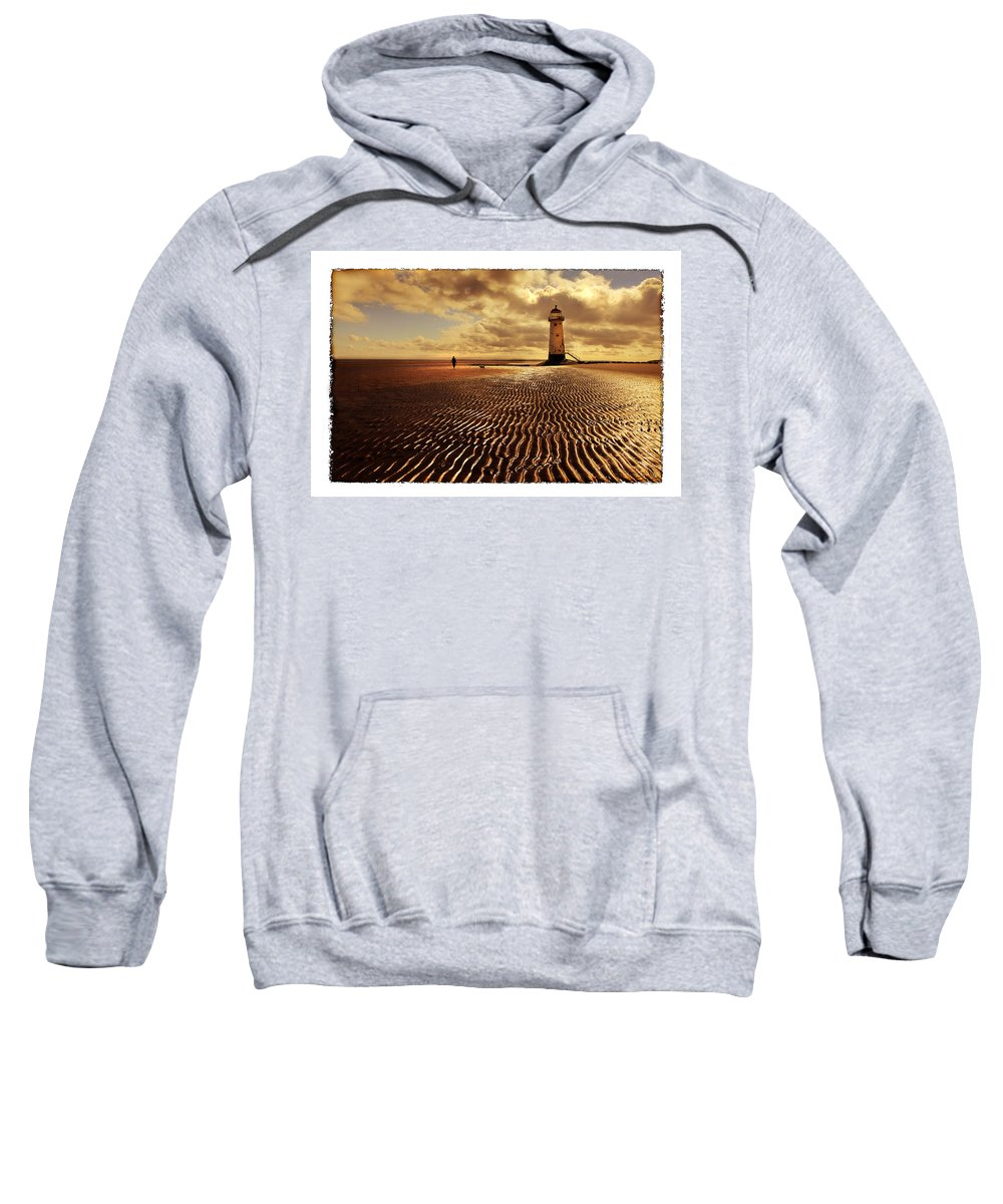 Lighthouse Sweatshirt featuring the photograph Talacre Lighthouse by Mal Bray
