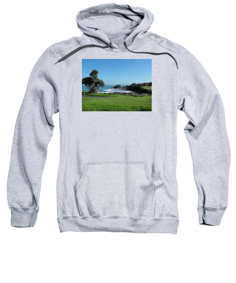 Tanah Lot Temple Sweatshirt featuring the photograph Tanah Lot Temple by Marlene Challis