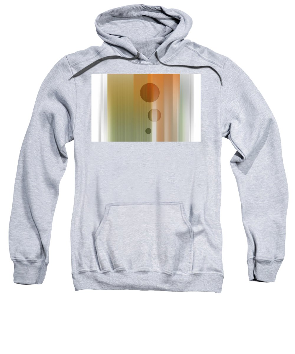 Abstract Sweatshirt featuring the digital art Thinking by Are Lund