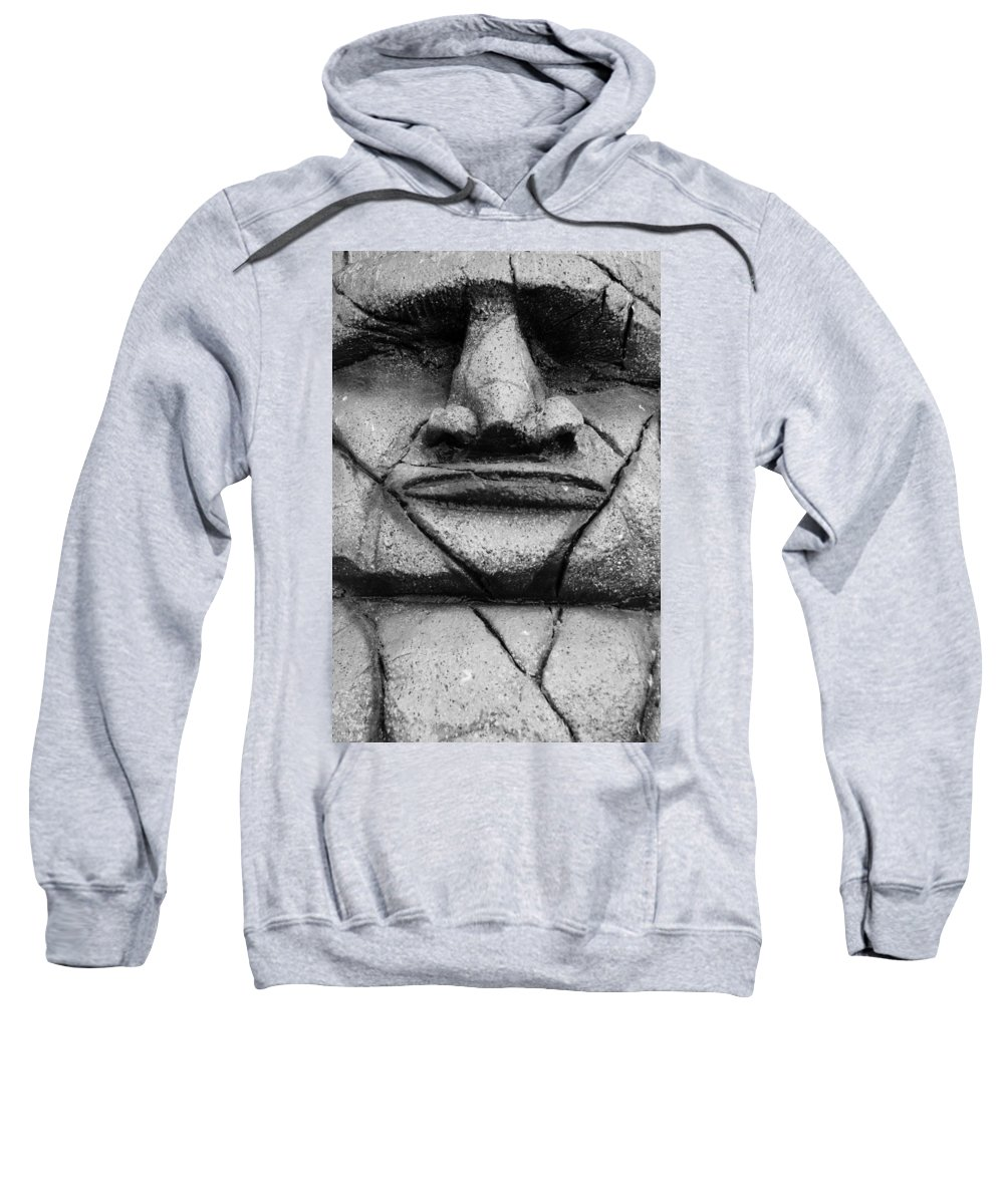 Easter Island Sweatshirt featuring the photograph Tiki Dude by Rob Hans