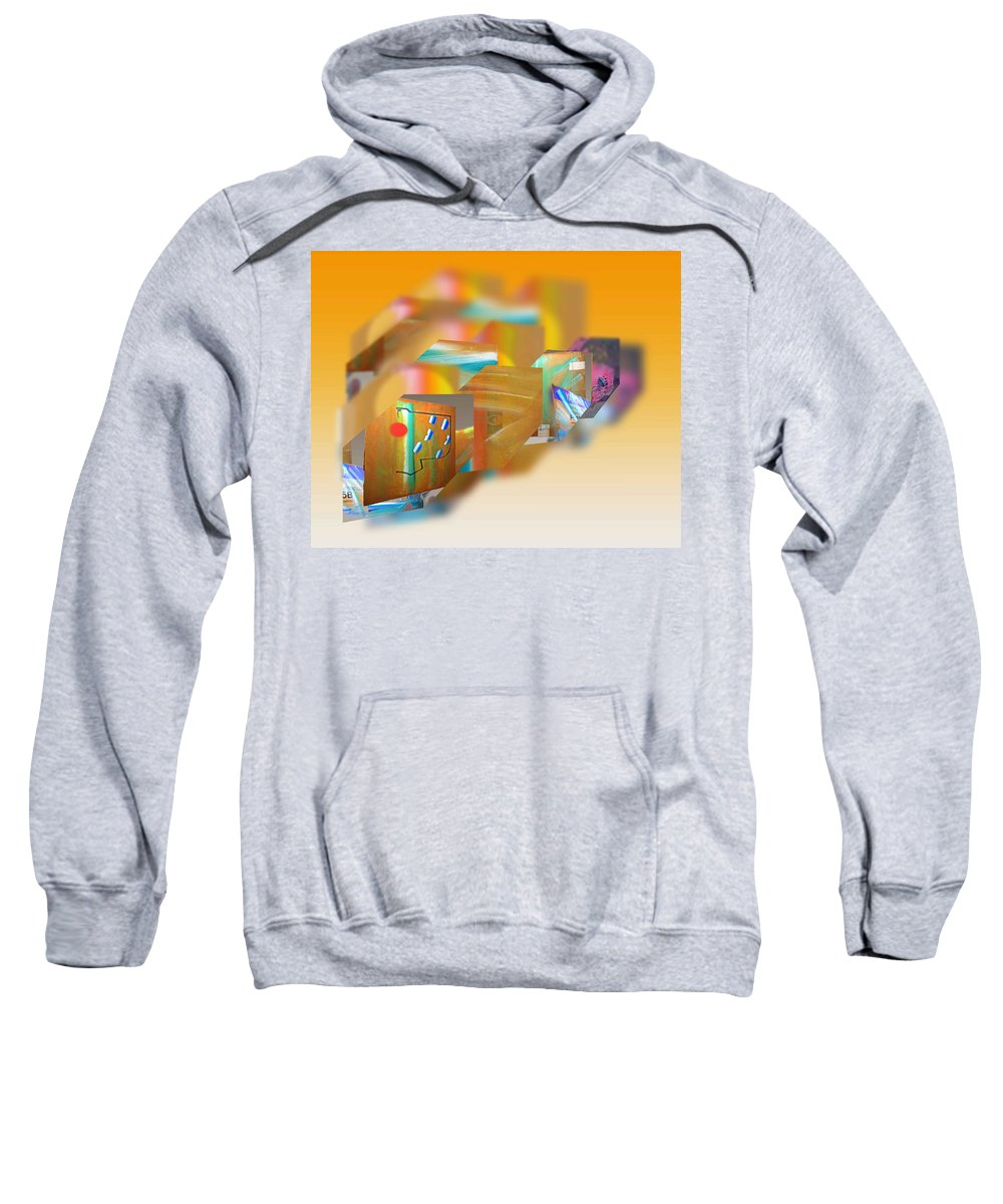 Japan Sweatshirt featuring the painting Tsunami by Charles Stuart