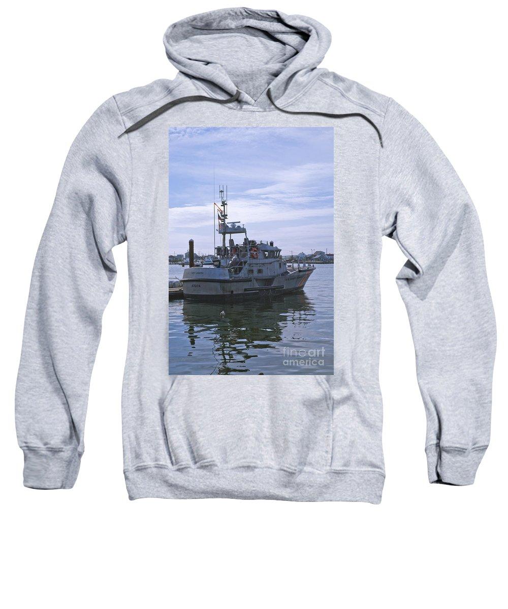 Uscg Sweatshirt featuring the photograph Uscg 47' Lifeboat - 1 by Tim Mulina