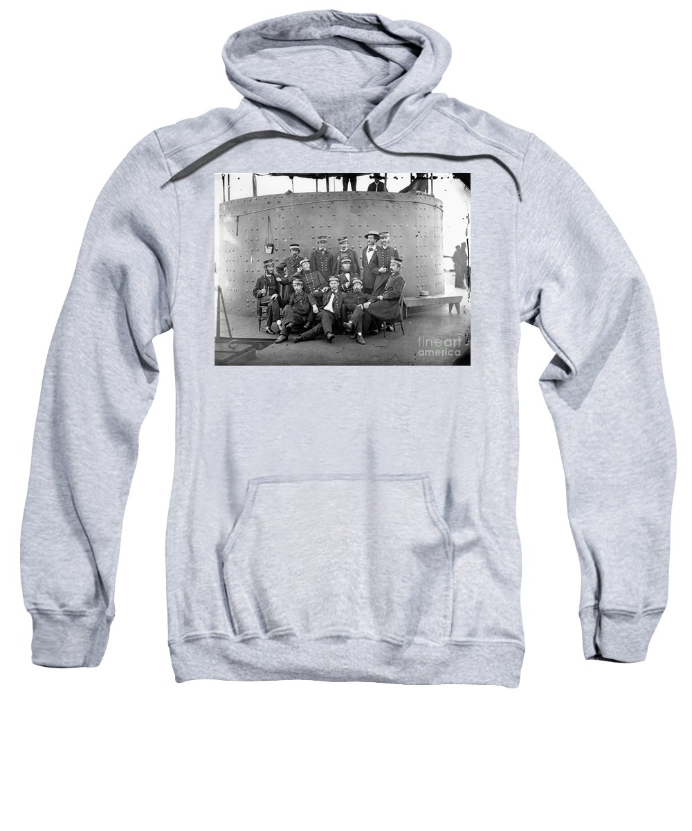 1862 Sweatshirt featuring the photograph U.s.s. Monitor, 1862 by Granger