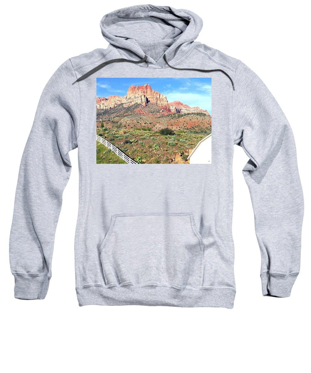 Utah Sweatshirt featuring the photograph Utah Cactus Field by Will Borden
