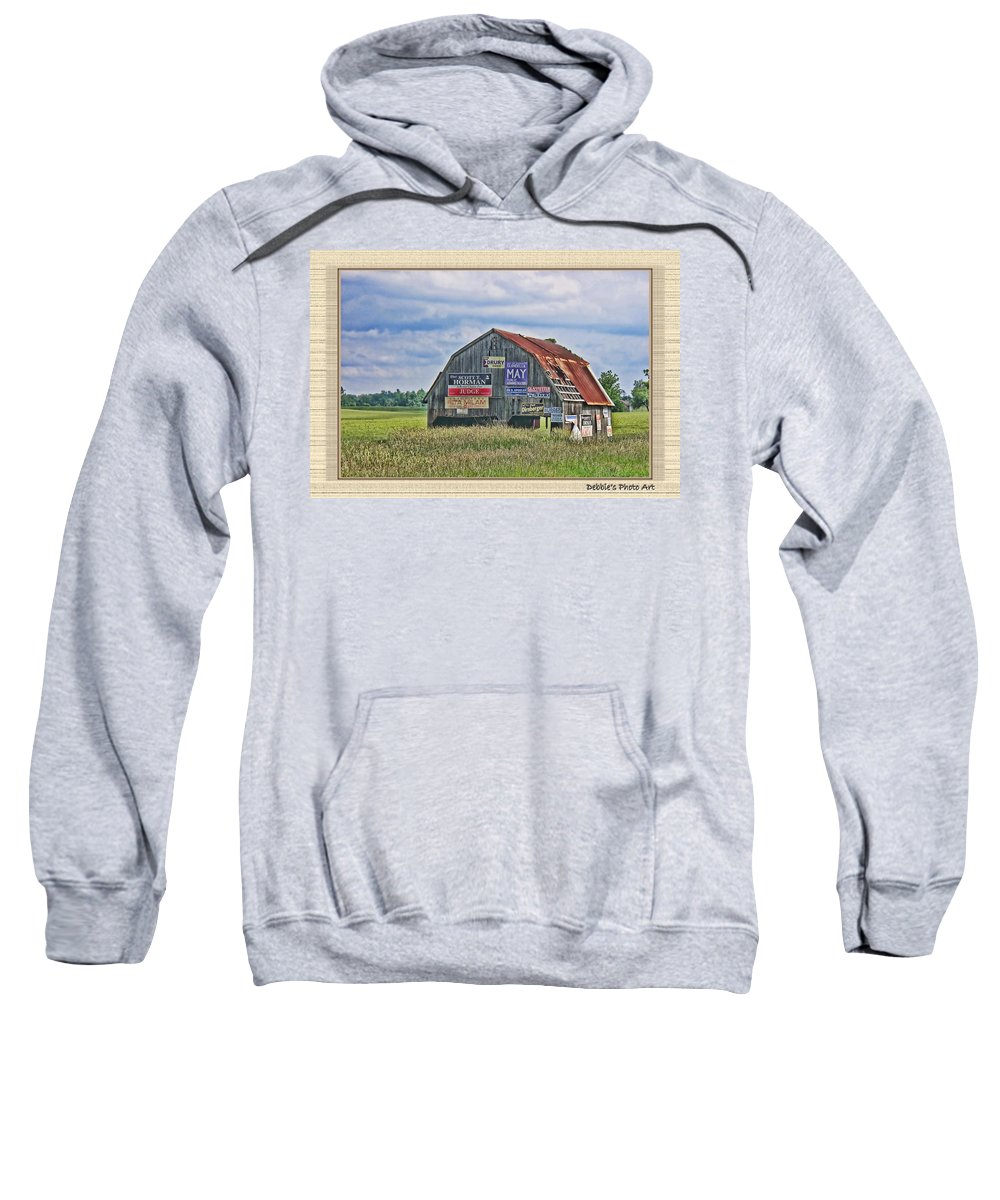 Landscape Sweatshirt featuring the photograph Vote For Me II by Debbie Portwood