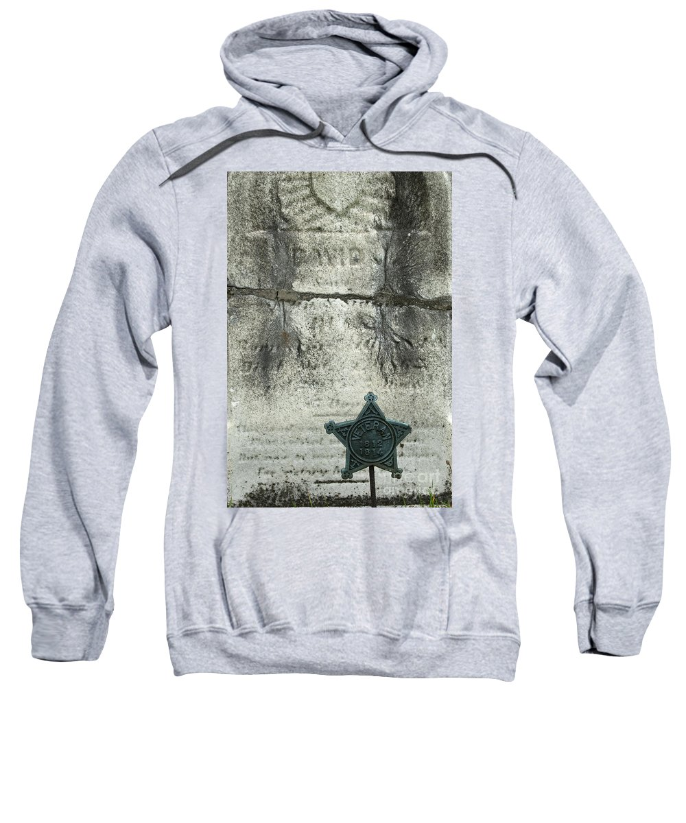 Cemetery Sweatshirt featuring the photograph War Of 1812 Veteran by Paul W Faust - Impressions of Light